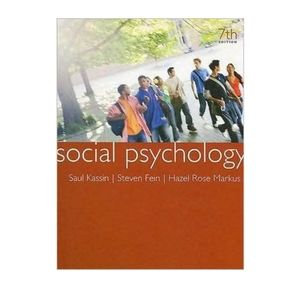 Social Psychology - 7th Ed.